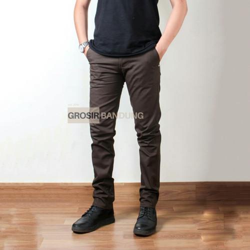 Foto Produk Celana Chino Panjang Big Size 35-42 / Kantor / Formal / Coklat - Coffe - Dark Brown, 35 dari Grosir Bandung