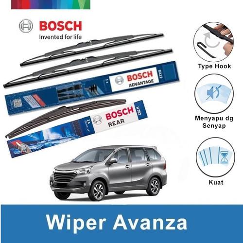 Foto Produk Wiper Depan Belakang Avanza Xenia BOSCH Set ADVANTAGE dari Indo Utama Otoparts