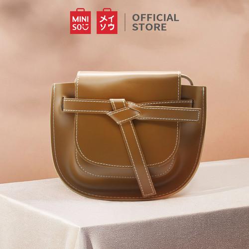 Foto Produk MINISO Handbag Tas Selempang Wanita Sling Bag Saddle Pesta Fashion - Cokelat dari Miniso Indonesia