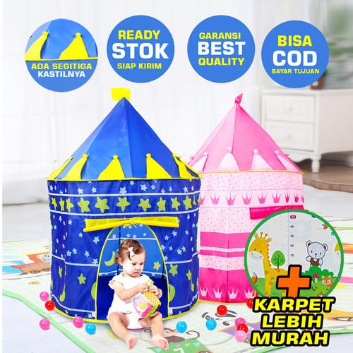 Foto Produk Tenda Castle Tent Matougui AN8109 Mainan Anak Kastil Princess - Biru dari first tactical