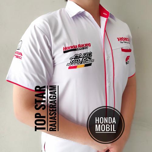 Foto Produk Baju Otomotif HONDA MOBIL Seragam Komunitas Moto GP Kemeja Bordir F1 dari Top Star