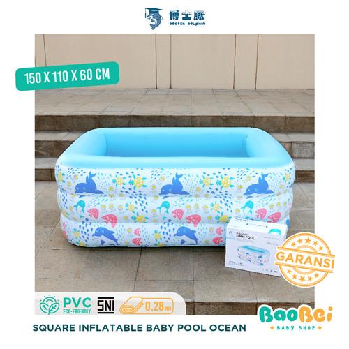 Foto Produk Doctor Dolphin / Kolam Renang Anak / Kolam Renang Persegi / Kolam Spa - Ocean 150, Kolam + Pompa dari baobei baby shop