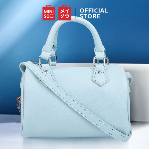 Foto Produk MINISO Tas Selempang Wanita Sling Bag Kecil Bulat Boston Fashion Lucu - Light Blue dari Miniso Indonesia