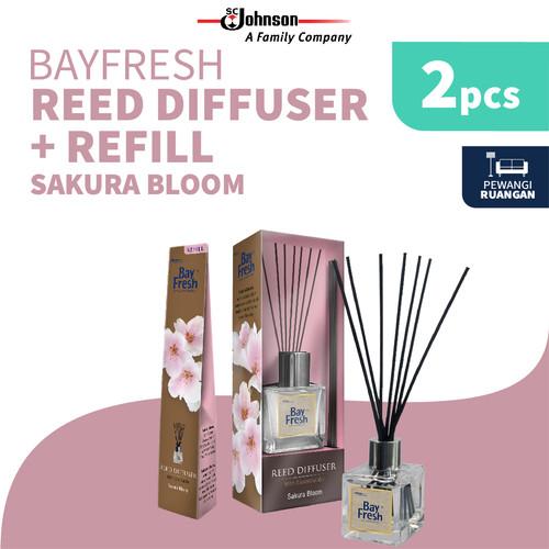 Foto Produk Bayfresh Reed Diffuser Pengharum Ruangan + Refill - Sakura Bloom - Regular+Refill dari SC Johnson & Son ID