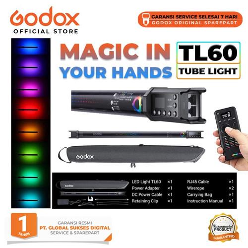 Foto Produk Godox TL60 Full-Color RGB Tube Light / Godox TL60 dari Godox Official Store
