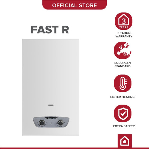 Foto Produk Pemanas Air Gas / Gas Instant Water Heater Ariston Fast R 5 L dari YALE Official Store