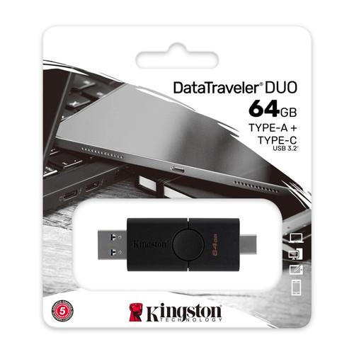 Foto Produk Kingston OTG USB-C DTDE 64gb Flashdisk OTG Type C USB 3.0 DTDE 64 gb dari PojokITcom Pusat IT Comp