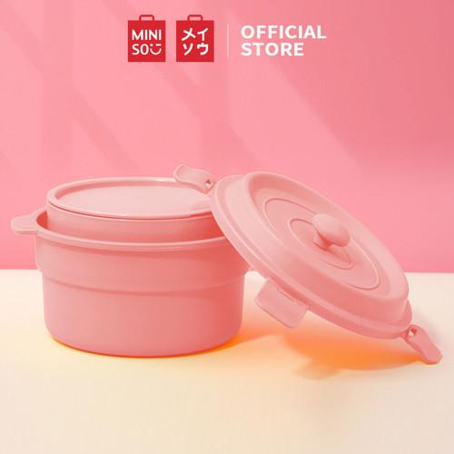 Foto Produk MINISO 2Pcs Kotak Makan Mini Siang untuk Kantor Sekolah - Merah Muda dari Miniso Indonesia
