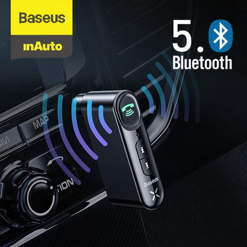 Foto Produk BASEUS CAR BLUETOOTH RECEIVER AUX 3.5MM WIRELESS AUDIO RECEIVER - Hitam dari Baseus Auto Life