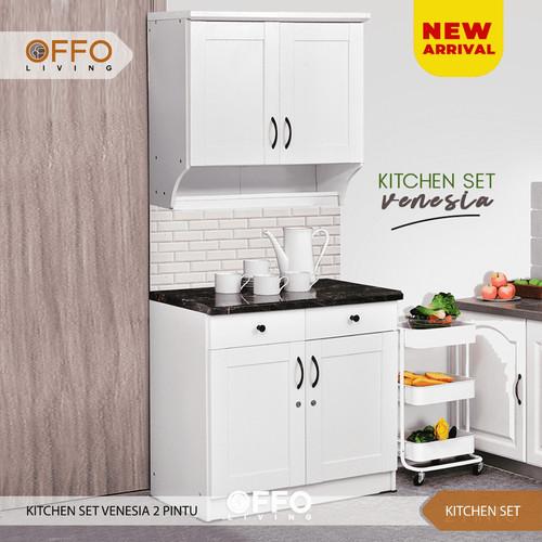 Foto Produk Kitchen Set Lemari Dapur Pintu Body Putih - 014110 - Venesia 2 Pintu - Atas dari Offo Living
