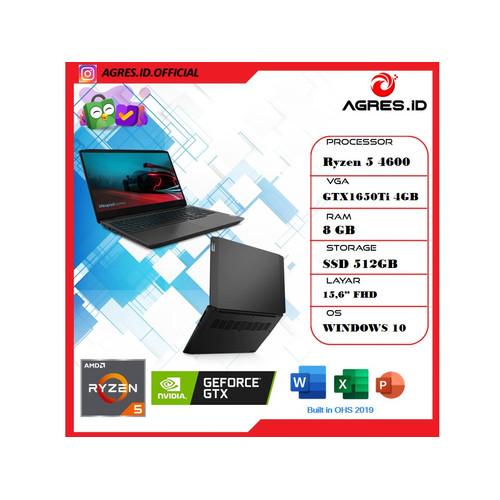 "Foto Produk Lenovo Gaming 3 Ryzen 5 4600 8GB 512ssd GTX1650Ti W10+OHS 15.6""FHD - 8 gb dari AGRES ID"