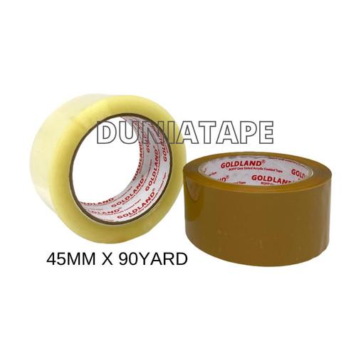 Foto Produk Lakban Bening Coklat 2 inch x 90 yard ( 45mm x 90 yard) setara daimaru - Bening dari Dunia Tape