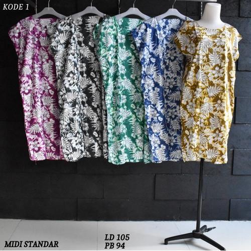 Foto Produk Grosir Daster Midi Rayon Murah Baju Tidur Kode 1 dari Rumah Batik Pekalongan 2