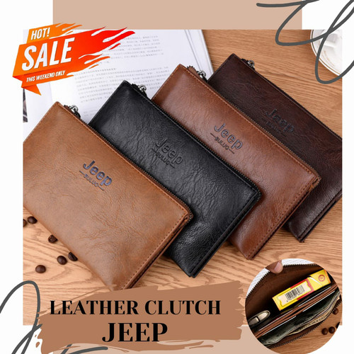 Foto Produk Clutch Bag JEEP kulit pria / handbag pria dari ValVel shopp