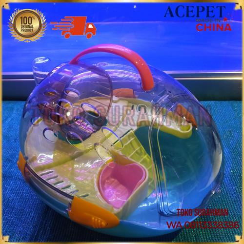 Foto Produk Kandang Hamster Portable Acepet Spaceship Oval + Accs Lengkap - Biru dari Toko Surahman