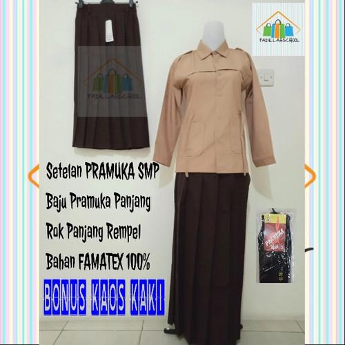 Foto Produk Setelan Pramuka SMP Rok panjang Baju Panjang,Seragam sekolah - kelas 1 SMP dari fadillahschool