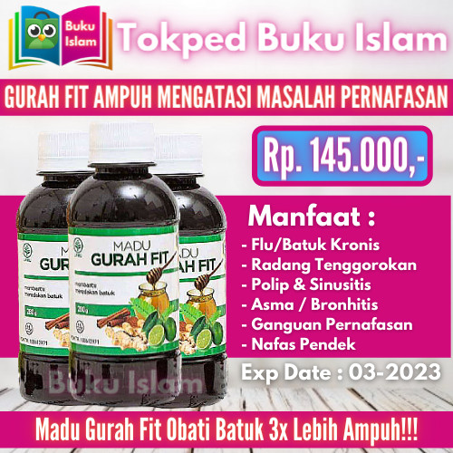 Foto Produk Madu Gurah Fit Obat Batuk Berdahak/Kering, Gangguan Radang Tenggorokan dari Buku Islam