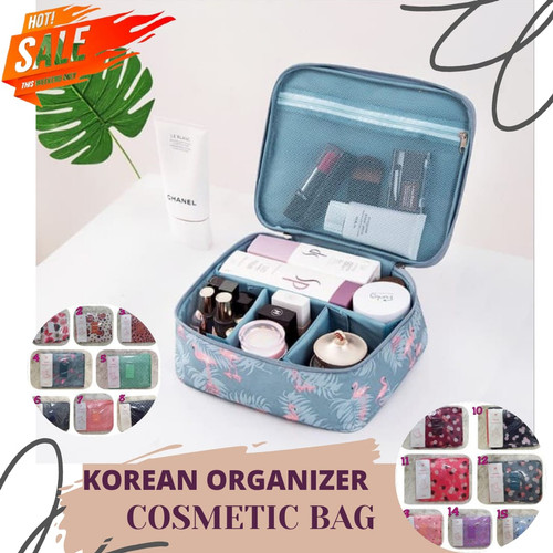 Foto Produk Travel Organizer / Travel Multi Pouch Ver 2 / Tas Kosmetik Motif dari Rising.collection