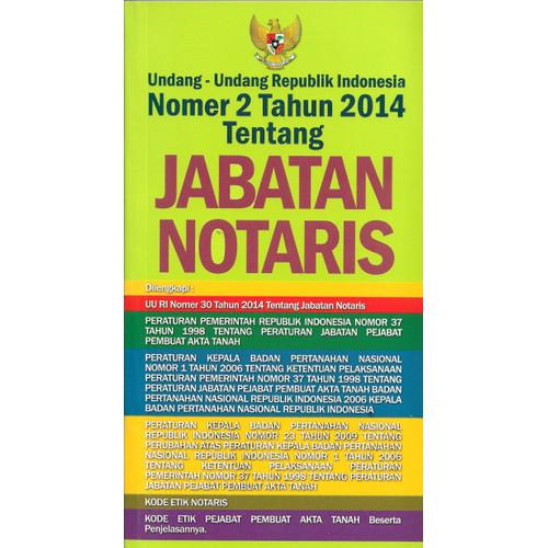 Foto Produk UNDANG-2 RI NO 2 TH 2014 TT JABATAN NOTARIS-SKD -UR dari Toko Buku Uranus