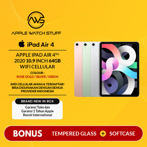 Foto Produk Apple iPad Air 4 / 4th Gen 2020 10.9 Inch 64gb Wifi Cellular BNIB - Green dari applewatchstuff