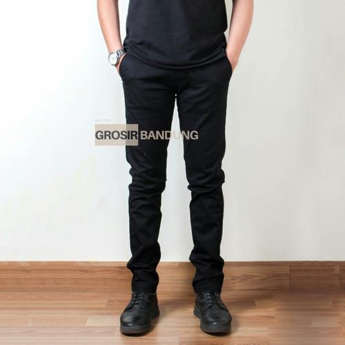 Foto Produk Celana Chino Panjang Super Jumbo   Slimfit super Big size 43 - 45 - Hitam, 44 dari Grosir Bandung