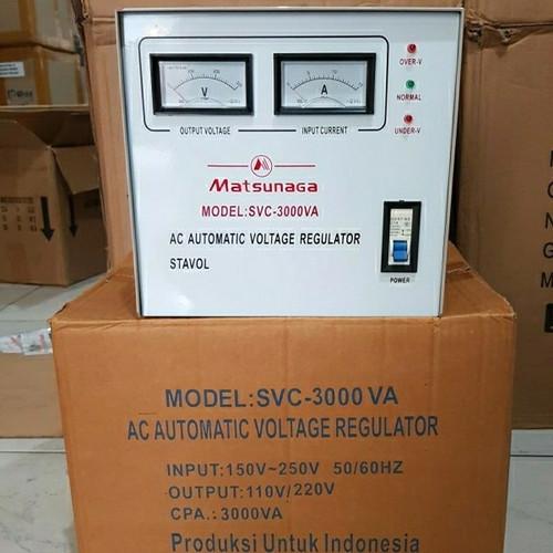 Foto Produk STABILIZER MATSUNAGA 3000 WATT STAVOL dari Manto Electronik