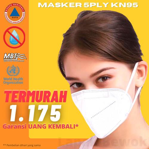 Foto Produk Masker KN95 Masker N95 Masker KN 95 Masker N 95 BFE95% RESMI IZIN BNPB dari Lapak Bewok