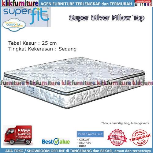 Foto Produk SUPERFIT SILVER SUPER (kasur 120x200) Comforta Springbed dari klikfurniture