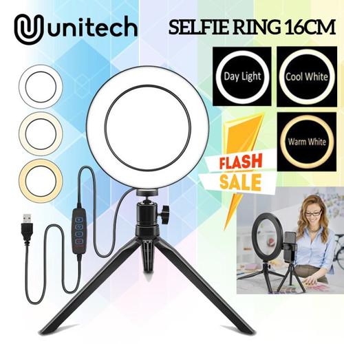 Foto Produk Paket Ring Light LED 16cm + Tripod Mini Lampu Livestream Tiktok dari TokoUsbcom