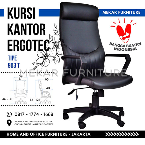 Foto Produk Kursi Kantor Direktur - 903 T - Hitam dari Mekar Furniture