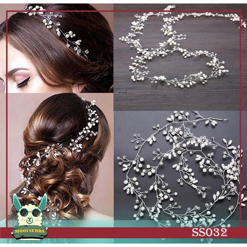 Foto Produk SS032 - Bride Wedding Hair/ Hairpiece/ Headpiece/Aksesoris Rambut - pendek dari Mooi Serba