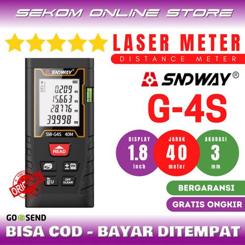 Foto Produk SNDWAY Meteran Laser Digital Distance 40 Meter SW-T40 dari SEKOM ONLINE STORE