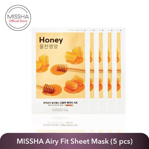 Foto Produk MISSHA AIRY FIT SHEET MASK (per variant 5 pcs) - Honey 5 pcs dari Missha Indonesia