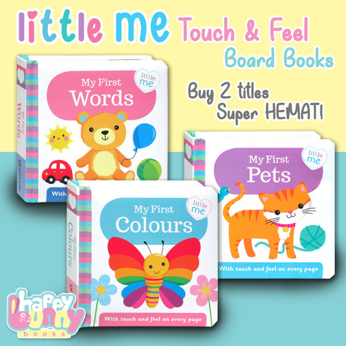 Foto Produk Little Me My First Words, Pets, Colours Touch & Feel Board Books (with - Words dari HappyBunnyBooks