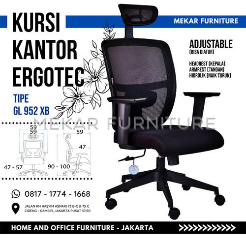 Foto Produk Kursi Kantor Ergotec - GL 952 XB - Mekar Furniture - GL 952 XB dari Mekar Furniture