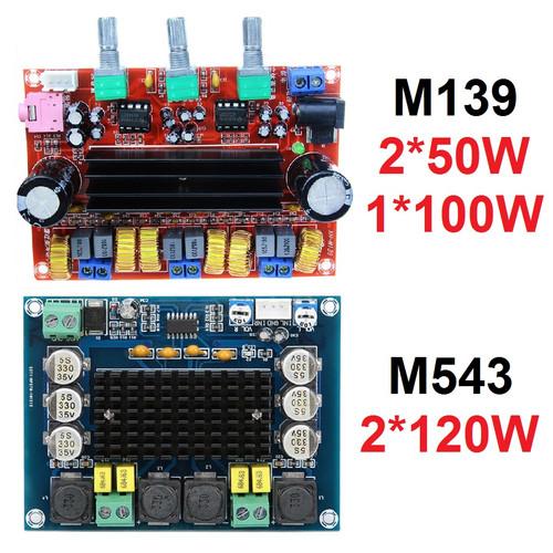 Foto Produk Kit Power Amplifier Class D TPA3116D2 2.1 2x50W+100W TPA3116 D2 2x50W - M543 (2x120W) dari Rumix