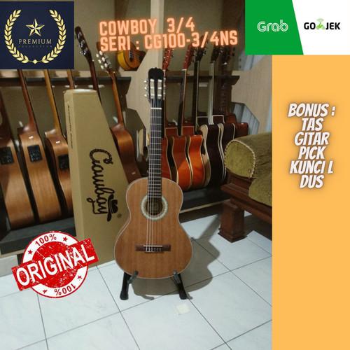 Foto Produk Gitar Junior Pemula akustik 3/4 Cowboy classic nylon original dari Travertine music