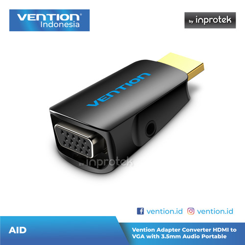 Foto Produk Vention Adapter Converter HDMI to VGA with 3.5mm Audio Portable dari Vention Indonesia