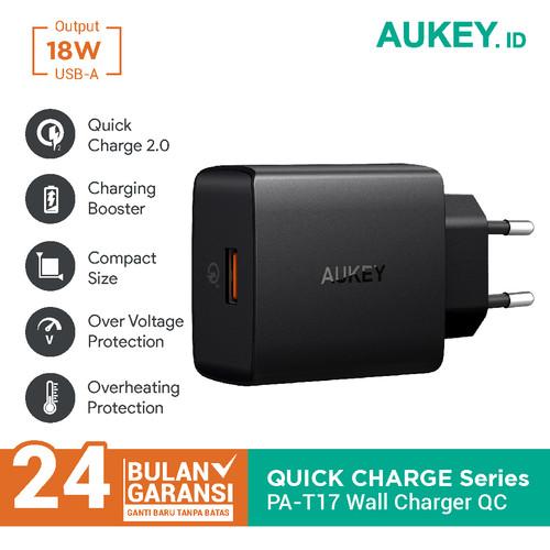 Foto Produk Aukey Turbo Charger PA-T17 1 Port 18W USB C QC 3.0 - 500339 dari Aukey Makassar