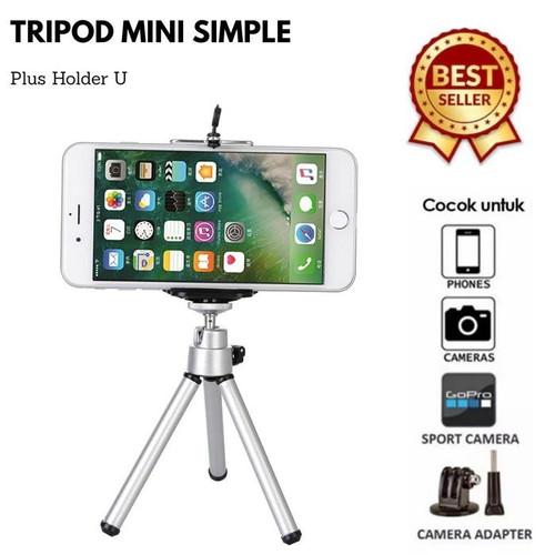 Foto Produk Tripod Mini Tripod Mini Vlogger Tiktok Livestream + Free Holder-Hitam - Hitam dari TokoUsbcom