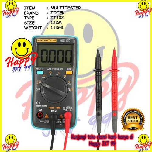 Foto Produk ORIGINAL AVOMETER DIGITAL ZOTEK ZT102 / MULTITESTER DIGITAL ZT 102 dari Happy Jkt 99
