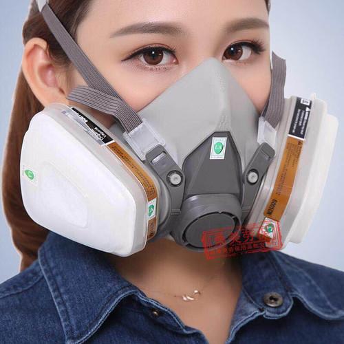 Foto Produk 3M Half Facepiece Respirator Half Gas Mask Medium Masker Gas 3M 6200 dari lbagstore