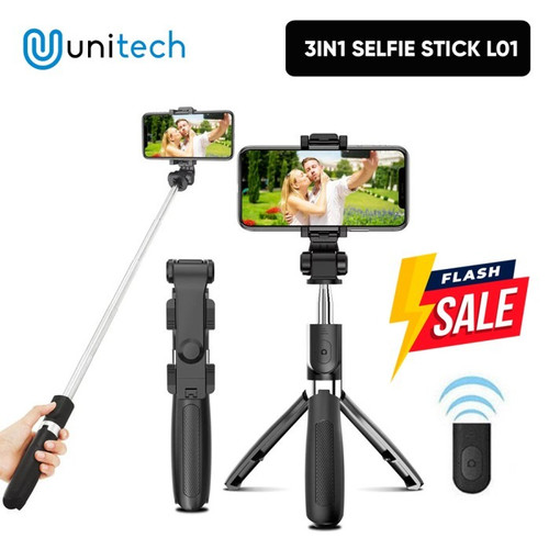 Foto Produk Selfie Stick 3in1 Tripod Bluetooth Multifungsi + Remote untuk Tiktok dari TokoUsbcom