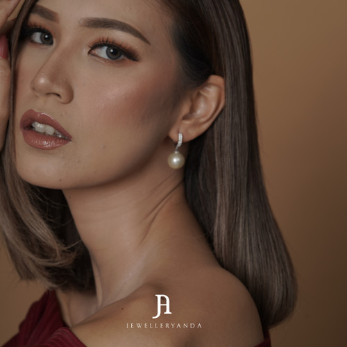 Foto Produk Pearl Diamond Earring - Diamond Earring - Jewelleryanda dari jewelleryAnda_