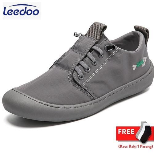 Foto Produk Leedoo Sepatu Sneaker Pria Import Kets Kasual Santai Light Shoes MC102 - Abu-abu, 42 dari Leedoo