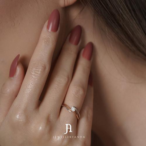 Foto Produk Jovita Diamond Ring - Diamond Ring - Jewelleryanda - 10 dari jewelleryAnda_
