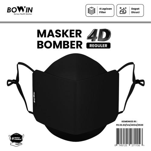 Foto Produk Bowin Masker Bomber - 2x Anti Bakteri & Percikan (Masker Kain 4ply) - 4D-REGULER dari Bowin Indonesia