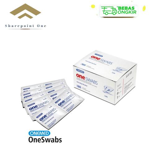 Foto Produk Onemed One Swabs Kapas Alkohol Box isi 100pcs/Alcohol Swab Alcohol 70% dari Sharepoint1