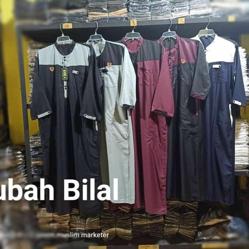Foto Produk Jubah Pria Muslim Toyobo Lengan Panjang - Hitam, L dari griyahijabq