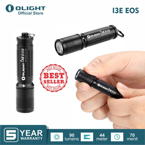 Foto Produk OLIGHT I3E EOS (Black) Flashlight Senter LED dari Olight Indonesia